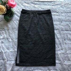 3/$25 Xhiliaration Grey Pencil Skirt W/ Side Split